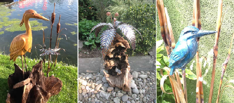 MOSS ART - Unique wooden sculptures, water features, root sculptures